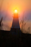 Lighthouse on sunset Royalty Free Stock Photo