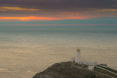 Lighthouse at Sunset,South Stack, Anglesey,North Wales Royalty Free Stock Photography