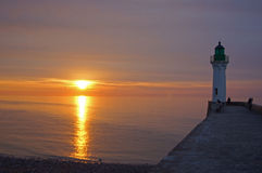 Lighthouse at sunset Royalty Free Stock Photo