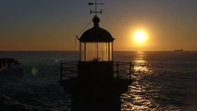Lighthouse in the sunset 03 stock footage