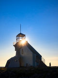 Lighthouse at Sunset Royalty Free Stock Photos