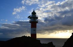 Lighthouse on sunset, Tenerife, Canary Islands Stock Photography