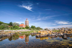 Lighthouse of Svaneke Stock Images