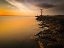 Lighthouse in Swinoujscie. Baltic sea,Poland Royalty Free Stock Photography