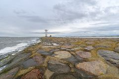 Lighthouse Swinoujscie  Poland Baltic Sea - output port Royalty Free Stock Photos