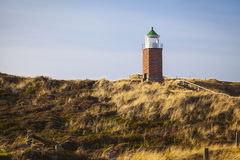 Lighthouse at Sylt. Leuchtfeuer Kampen Lighthouse at Sylt royalty free stock image