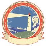 Lighthouse symbol.Vintage label Stock Photos