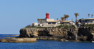 Lighthouse in Syracuse, Sicily, Italy Stock Photography