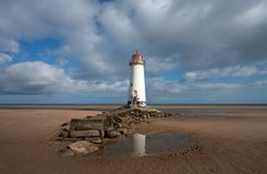 Lighthouse on Talacre Beach Royalty Free Stock Image