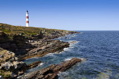 Lighthouse at Tarbat Ness Royalty Free Stock Photography