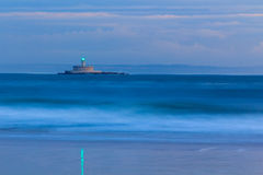 Lighthouse in Tejo river near Lisbon, Portugal long exposure Stock Images