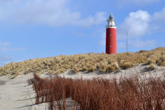 Lighthouse on Texel. Royalty Free Stock Photos