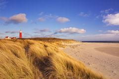 Lighthouse on Texel island in The Netherlands stock photo