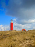 Lighthouse on Texel. In the Netherlands Stock Images