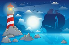 Lighthouse theme image 4 Royalty Free Stock Photo