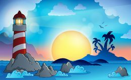 Lighthouse theme image 9 Royalty Free Stock Photo