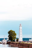 Lighthouse. There is Lighthouse at the pier Royalty Free Stock Photography
