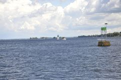 Lighthouse from Thousand Islands Archipelago from Ontario Province in Canada. On 25th June 2017 Stock Photography