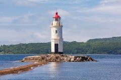 Lighthouse Tokarevskiy Egersheld, Vladivostok Royalty Free Stock Images