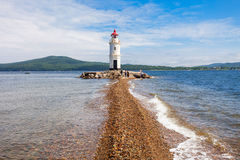 Lighthouse Tokarevskiy Egersheld, Vladivostok Royalty Free Stock Photo