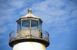 Lighthouse Top Lght Cloud Blue Sky Background Royalty Free Stock Image