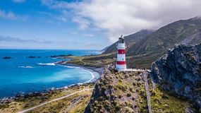 Lighthouse on a top of the cliff royalty free stock images