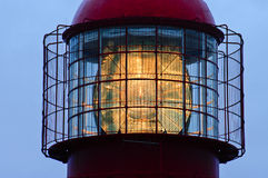 Lighthouse top detail Royalty Free Stock Photo