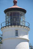 Lighthouse top. The top of a lighthouse part of tower, beacon, daytime Royalty Free Stock Photos
