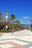 Lighthouse at Torre del Mar Stock Photos