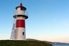Lighthouse of Torshavn, Faroe Islands. At sunset Royalty Free Stock Image