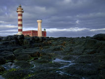 Lighthouse Tost�n Canary Islands Fuerteventura. Lighthouse Toston Canary Islands Fuerteventura at sunrise Stock Images