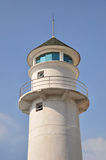 Lighthouse tower. Againt blue sky background Stock Image