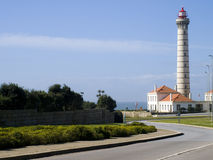 Lighthouse tower with blue sky as background Royalty Free Stock Photography