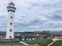 Lighthouse tower with city view Egmond the Netherlands. A Lighthouse tower with city view Egmond city the Netherlands stock images
