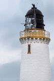 The lighthouse tower at Dunnet Head in North Scotland. Stock Photos