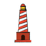 Lighthouse tower icon Royalty Free Stock Photos