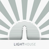 Lighthouse tower vector image Royalty Free Stock Image