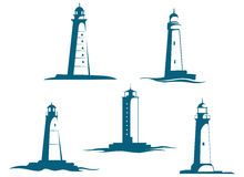 Lighthouse towers Stock Image