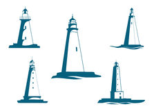 Lighthouse towers symbols Stock Photo