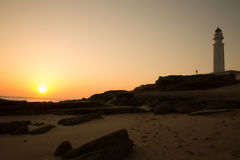 Lighthouse of trafalgar royalty free stock photos