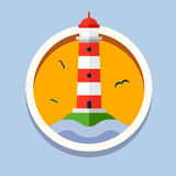 Lighthouse. Travel, flat style vector Stock Photography