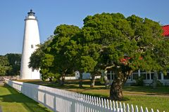 Lighthouse and Tree Royalty Free Stock Photos