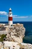 Lighthouse Trinity High on Europe Point stock photo