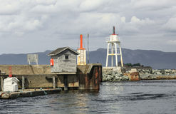 Lighthouse at trondheim fjord Royalty Free Stock Photo