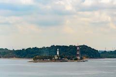 Lighthouse on tropical island Stock Image