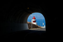Lighthouse tunnel Stock Image