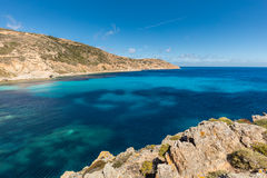 Lighthouse and turquoise sea at Revellata in Corsica Stock Photo