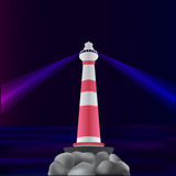 Lighthouse with two rays Stock Photo
