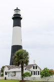 Lighthouse in Tybee Island, Georgia on a cloudy day Stock Images