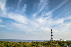 Lighthouse unde the sky. A spanish lighthouse under a cloudy sky Royalty Free Stock Photo
